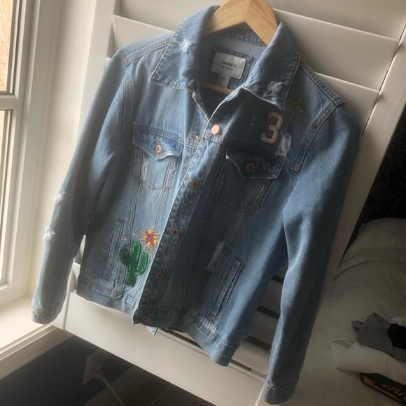 Forever 21 patch denim jacket